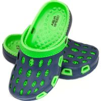Klapki basenowe dla dzieci Aqua-speed Silvi kol 48 zielono granatowe 25