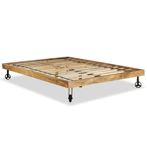 łóżko Rama łóżka Drewniana Drewno Mango 140x200cm