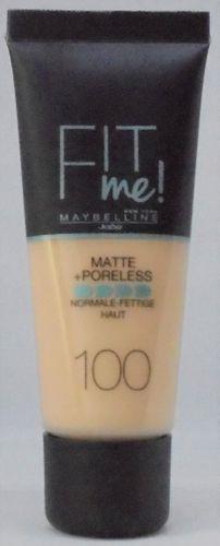 Maybelline Fit Me podkład matujact ciepła kość słoniowa warn ivory 100 francuski na Arena.pl