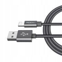 ORYGINALNY Kabel ROCK USB iPhone 5 SE 6S 7 180 cm