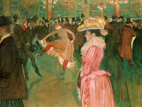 Reprodukcje obrazów At the Moulin Rouge-The Dance - Henri de Toulouse-Lautrec Rozmiar - 80x60