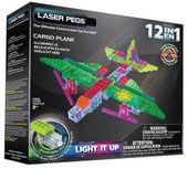 Klocki laser pegs 12 w 1 Cargo plane