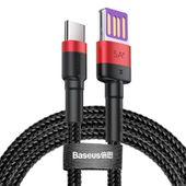 Baseus Cafule kabel przewód USB Typ C SuperCharge 40W Quick Charge 3.0 QC 3.0 1m czarno-czerwony (CATKLF-P91) zdjęcie 1