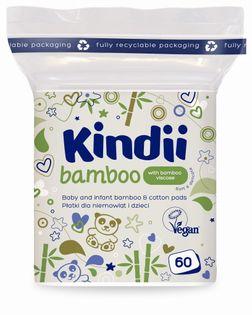 CLEANIC Kindii  Bamboo 60szt - płatki kosmetyczne dla dzieci i niemowląt