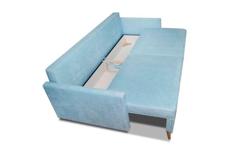 Kanapa Sofa BLUE rozkładana bonell Skandynawska zdjęcie 4