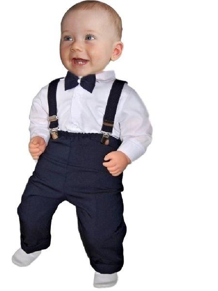 Ubranko komplet r.80 koszula body spodnie szelki muszka do chrztu zdjęcie 2