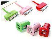 KABEL PRZEWÓD ŁADOWARKA USB DO IPHONE 4 IPOD IPAD 1 2 3 + SAMOCHODOWA