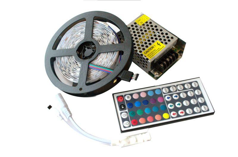 Zestaw taśma RGB 60led/m + PILOT + zasilacz LED 5M zdjęcie 1