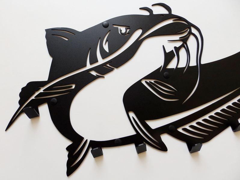 Metalowy wieszak ścienny na ubrania klucze - RYBA SUM zdjęcie 7