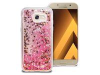 Etui liquid glitter Samsung Galaxy A5 2017 brokat różowy +Szkło