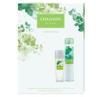 Coty Chanson D'eau Zestaw Dezodorant Spray Szkło 75Ml + Dezodorant Spray 200Ml