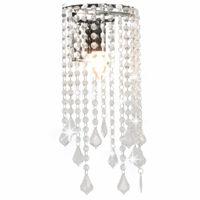 Lampa Ścienna Z Kryształkami I Koralikami, Srebrna, E14