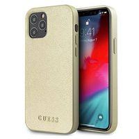 "Guess GUHCP12LIGLGO iPhone 12 Pro Max 6,7"" złoty/gold hardcase Iridescent"