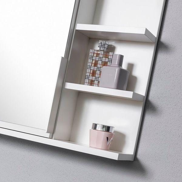 Duża biała szafka z lustrem i półkami do łazienki na Arena.pl