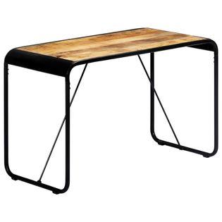 Stół jadalniany, 118x60x76 cm, lite surowe drewno mango