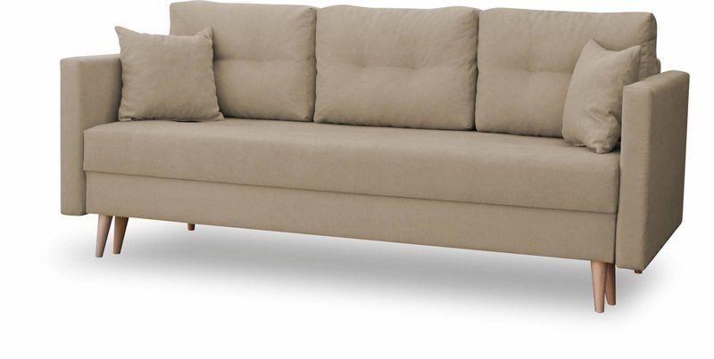 Kanapa rozkładana z funkcją spania na sprężynach, zmywalna sofa Lahti zdjęcie 7