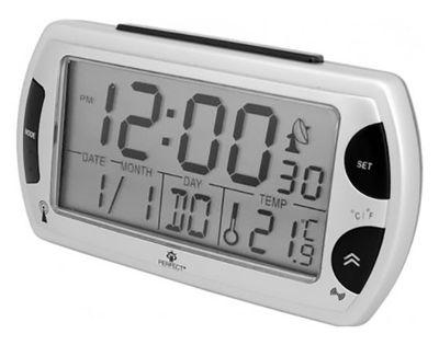 Perfect R358 DCF Budzik LCD, radiowa synchronizacja czasu, termometr, datownik, alarm, podświetlenie