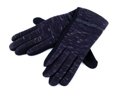 Rękawiczki damskie z dzianiny granatowe roz. L