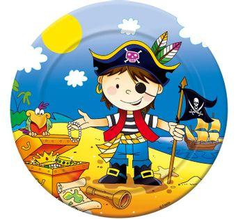 Talerzyki Pirat dla chłopca Roczek Urodziny 6szt