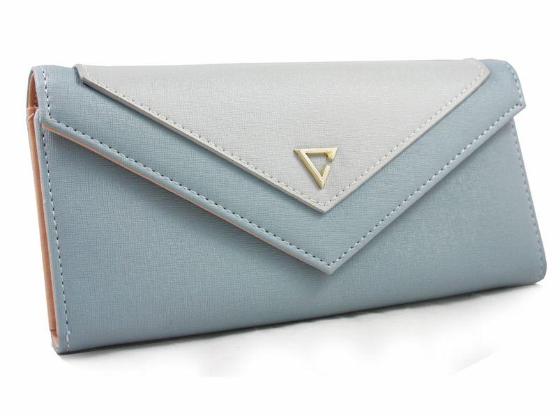"""Elegancki portfel damski """"kopertówka"""", niebieski zdjęcie 1"""