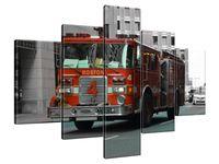 Obraz Drukowany 100x70 Bostoński wóz strażacki - Brett Levin   kreacja  upominek