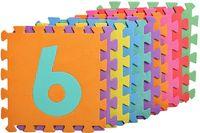 Puzzle piankowe dla dzieci CYFERKI 29 x 29 cm - 10 szt.