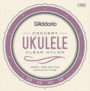 Struny do ukulele koncertowego Daddario EJ65C