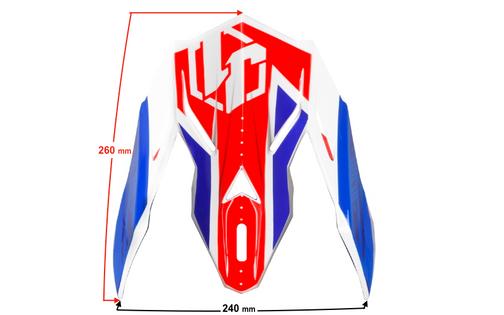 Daszek kasku JUST1 J38 BLADE Blue-Red-White