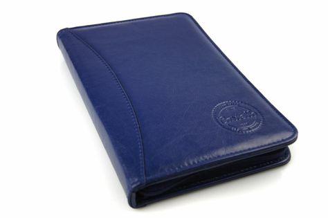 Skórzane etui na dokumenty, recepty, wizytówki Cartello W614 Granatowy