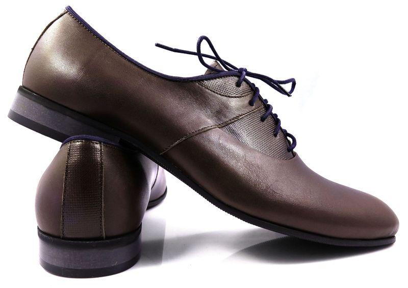 12a37be5ac1a1 Brązowe obuwie męskie z granatowymi elementami T60 Rozmiar Obuwia - 44  zdjęcie 4