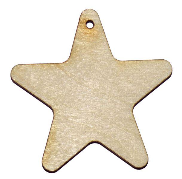 ZAWIESZKA GWIAZDA SKLEJKA drewniana gwiazdka 8,5cm zdjęcie 1