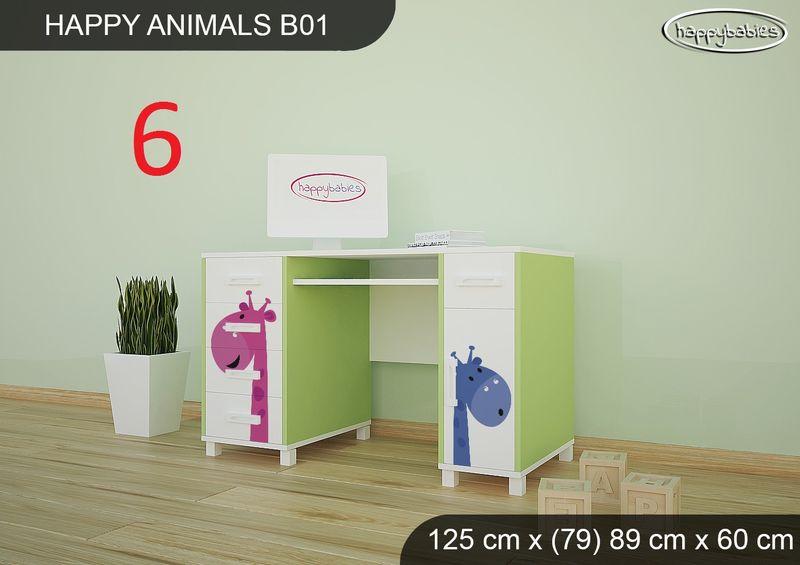 BIURKO DZIECIĘCE  HAPPY ANIMALS B01 AM01 Zielone zdjęcie 8
