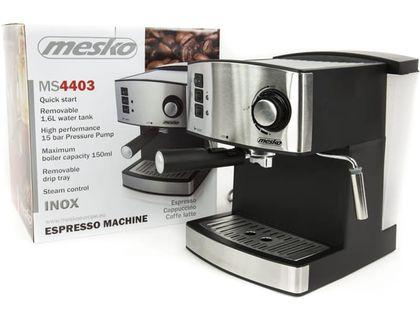 Ekspres ciśnieniowy do kawy Mesko +spieniacz mleka MS 4403