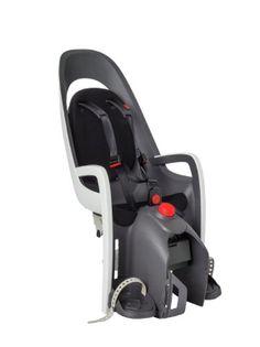 Fotelik rowerowy HAMAX CARESS szaro-biały na bagażnik amortyzowany