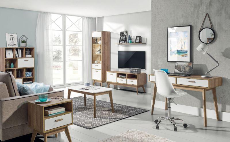 Skandynawskie biurko z szufladami Nordic zdjęcie 3