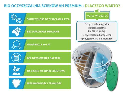 Przydomowa biologiczna oczyszczalnia ścieków 4 - 10 osób VH8 PREMIUM na Arena.pl