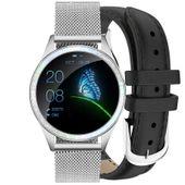 Zegarek GINO ROSSI  SMARTWATCH - srebrny + czarny pasek