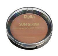 Delia Cosmetics Shape Defined Sun Glow Puder prasowany brązujący nr 401 Blonde  9g
