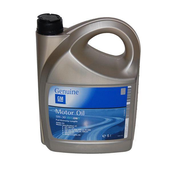 5L OLEJ OPEL GM 5W30 DEXOS 2 dla filtrów DPF zdjęcie 1