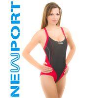 Kostium pływacki IZABEL Rozmiar Stroje damskie 40(L), Kolor Stroje damskie Izabel 16 czarny czerwony