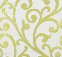 Tapeta Zielone Ornamenty na Białym Tle Marburg 55248