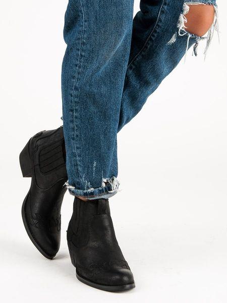 Czarne botki kowbojki Rozmiar 38