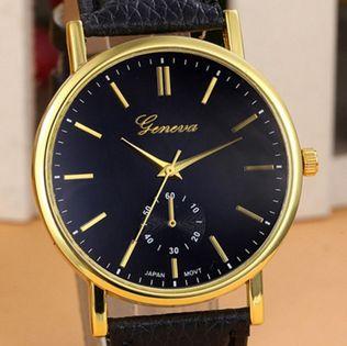 Zegarek damski, Geneva, czarny, czerwony, biały nowy, modny,
