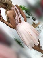 Sukienka BUGATTI krótka- puder S (36)