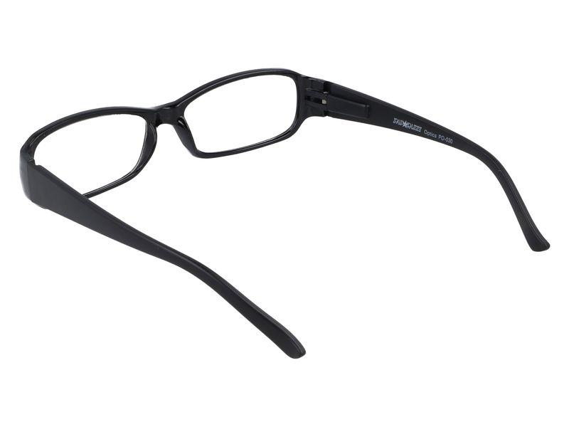 Czarne okulary zastępcze do czytania plusy +3.50 zdjęcie 3