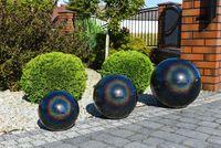 Kula ogrodowa Era 38cm kula dekoracyjna z żywicy poliestrowej Pawie oczko
