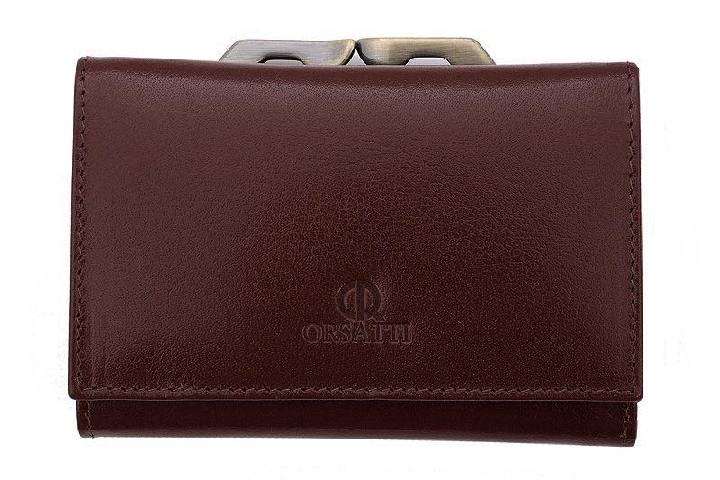 Skórzany portfel damski Orsatti D-02B w kolorze brązowym zdjęcie 1