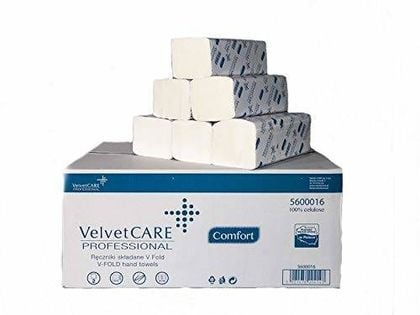 Velvet Care Ręcznik Składany Zz V-Fold 20Szt Biały