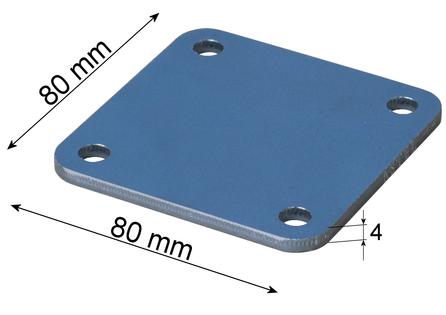 Marka montażowa, Blacha montażowa, Płytka montażowa 80x80x4 mm