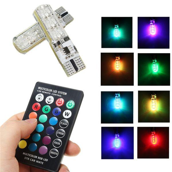 żarówka LED T10 12V RGB CANBUS +pilot zdjęcie 4